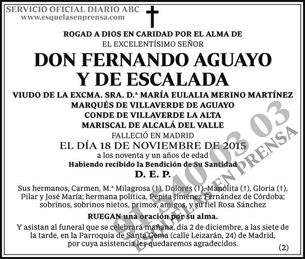 Fernando Aguayo y de Escalada